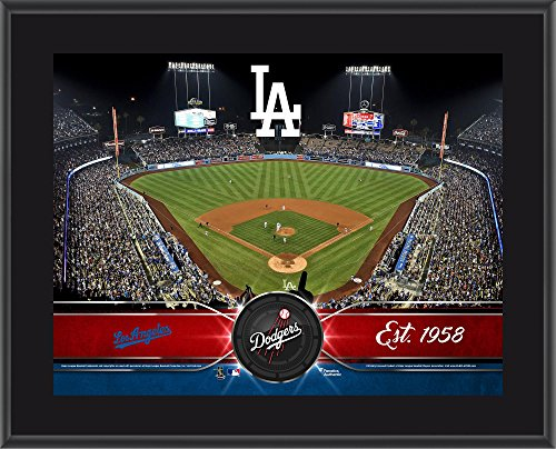 "Los Angeles Dodgers 10"" x 13"" Sublimated Team Stadium Plaque - MLB Team Plaques and Collages"