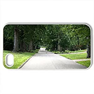 Beautiful View - Case Cover for iPhone 4 and 4s (Watercolor style, White)