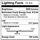 Sunlite MP100/U/MED 100-Watt Metal Halide ED17 Bulb, Medium Base, Clear