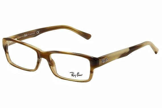 c5c0af72829 RAY BAN RX 5169 Eyeglasses 5542 Brown Horn Transparent Beige 54-16 ...