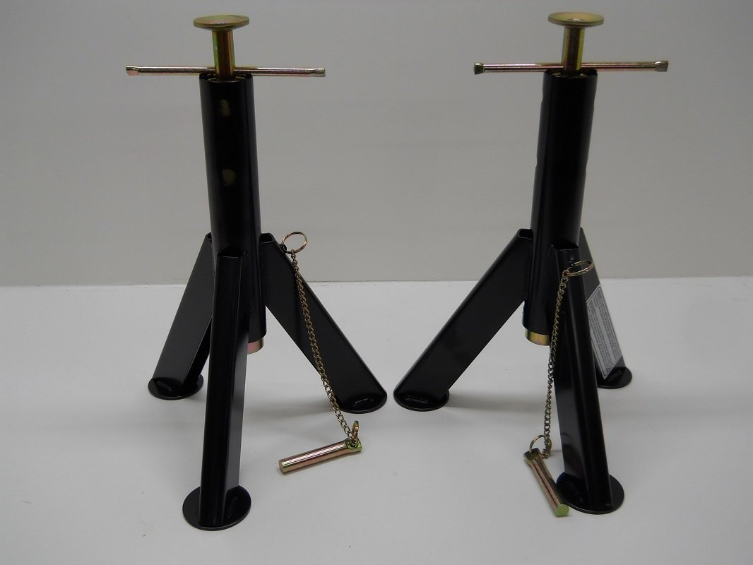2 RV Camper Motor Home Trailer Adjustable Stabilizer Jack Stands 7500 LB Husky