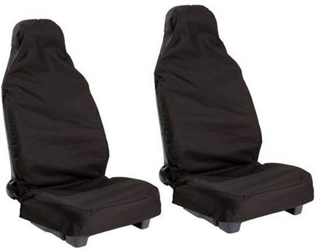 Car Seat Cover 2 Pcs Front Waterproof Nylon Car Van Auto Vehicle Seat Cover Protector Comfortable