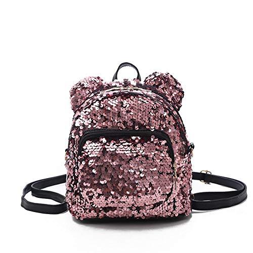 Para Pequeñas Niña Bolso Mochila Portatil Bandoler Moda Escolares Lentejuelas mochilas Universidad Casual Bolsos Mujer Rosa Mochilas De Casual Decor Con Mujer 4BxB5FzwMq