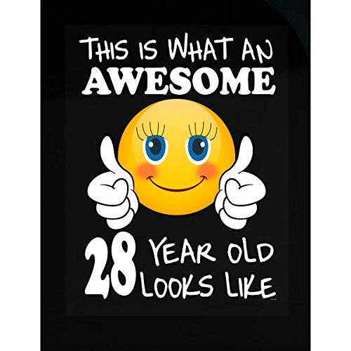 Emoji Birthday 28th Birthday Presents Woman 28 Year Old Gift - Sticker