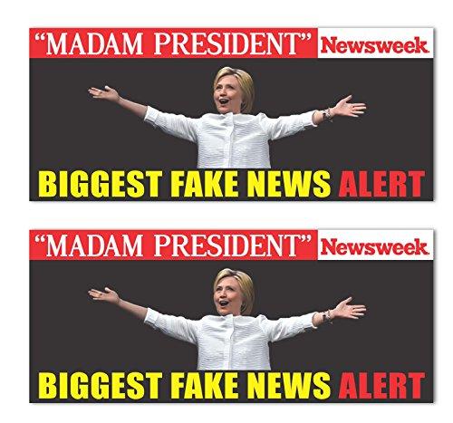 madam-president-hillary-clinton-fake-news-alert-newsweek-trump-2016-sticker-decal-7x3-7-x-3-pack-of-