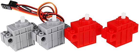 Bit ROUHO Kittenbot 360 Rot Farbe Geek Servo /& 270 Grau Farbe Geek Motor Mit Draht F/ür Lego//Micro