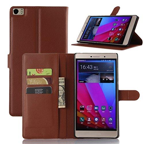 Manyip Funda Huawei P8 Max,Caja del teléfono del cuero,Protector de Pantalla de Slim Case Estilo Billetera con Ranuras para Tarjetas, Soporte Plegable, Cierre Magnético(JFC5-3) A