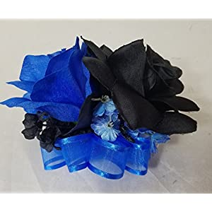 Horizon Royal Blue Black Rose Corsage or Boutonniere 17