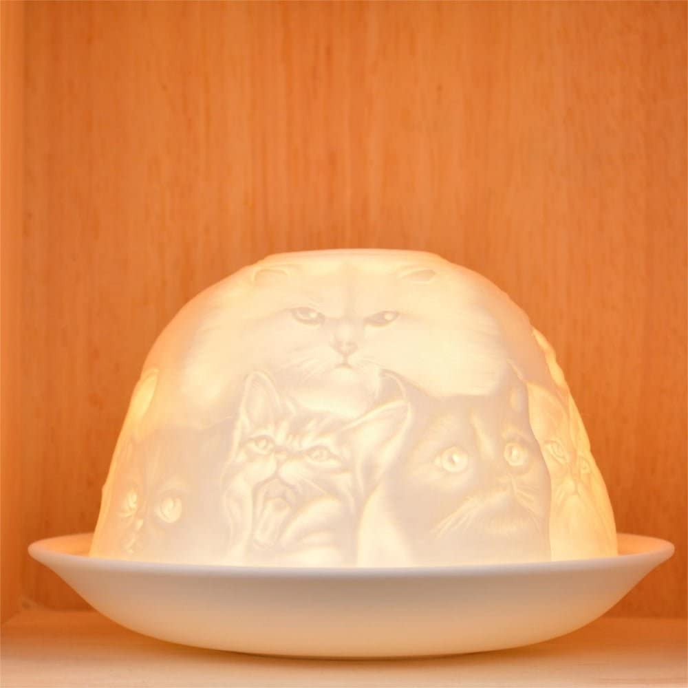 Candle Accessories White Patterned Lace Gift Idea One Size Nordic Light Shade Cats Tealight Holder Plate