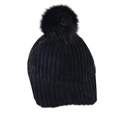 Voberry Winter Children s Hat Authentic Cotton Wool Ball Hat Thick Warm Hat  (Black) 2f8c24e386ad