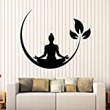 Toonol 28 x 34 CM Yoga Meditation Room Vinyl Wall Stickers Buddhist Zen Wall Decal Design Removable Wall Sticker Decor Yoga Room Wallpaper