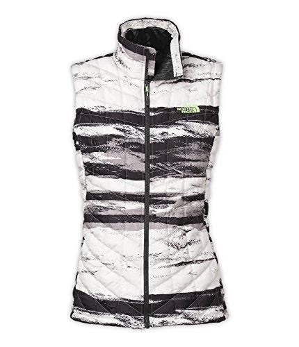 The North Face Thermoball Vest - Women's TNF Black Desert Stripe/TNF White Large (North Face White Vest)