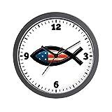 Wall Clock US Christian Fish Ichthys