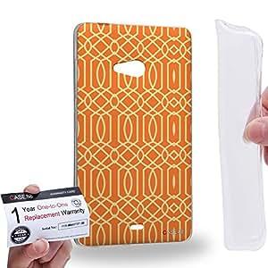 Case88 [Microsoft Lumia 540] Gel TPU Carcasa/Funda & Tarjeta de garantía - Art Carpet And Tapestry Flame Art2011