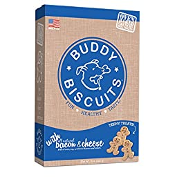 Cloud Star Itty Bitty Buddy Biscuits Dog Treats, Bacon and Cheese Madness, 8-Ounce Boxes (Pack of 6)