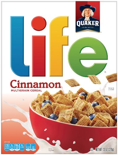 (Life Multigrain Cereal, Cinnamon, 13-Ounce Boxes (Pack of 4))