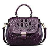 ZOOLER Embossed Crocodile Purse Genuine Leather Handbag Satchel Crossbody Bag Small