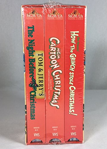 3 VHS Tom & Jerry's the Night Before Christmas, Dr. Seuss...