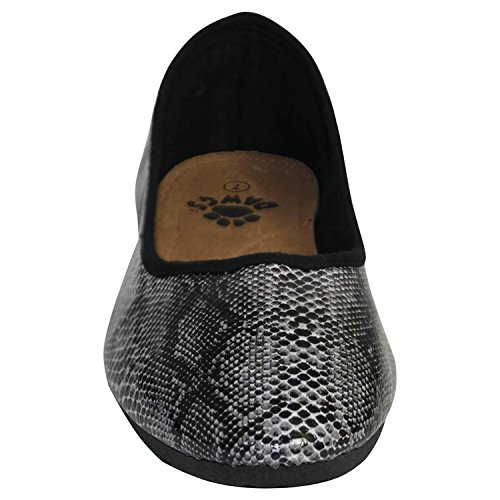Dawgs Womens Kaymann Ballet Slippers Black Diamondback