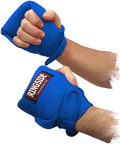 Guantes con peso en el ring