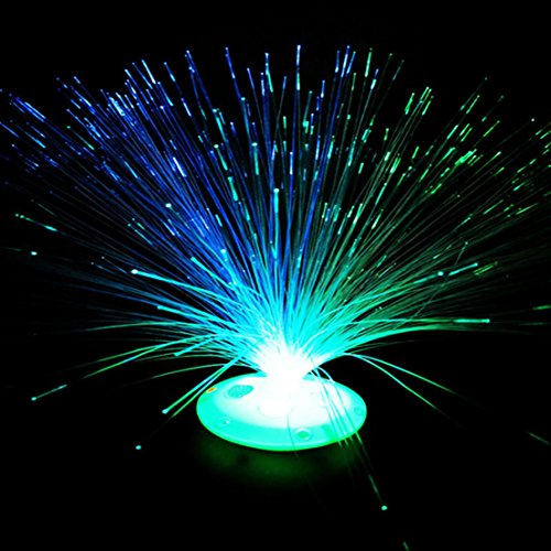 1Pc First-class Popular 8 Modes LED Nightlight Xmas Tree Lamp Fiber Optic Colorful Party Random Stand Color (Hipster-mode-shop)