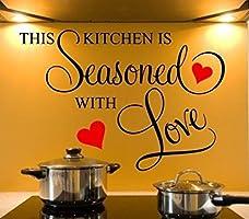 Decals Design 'Kitchen Seasoned with Love' Wall Sticker