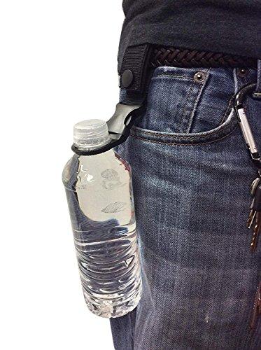 Hanging Buckle Mineral Water Bottle Clip/Drink Holder/Drinks Bottle Buckle For Camping Hiking Traveling Outdoor,Pack of 2 (Bottle Holder Belt Buckle)
