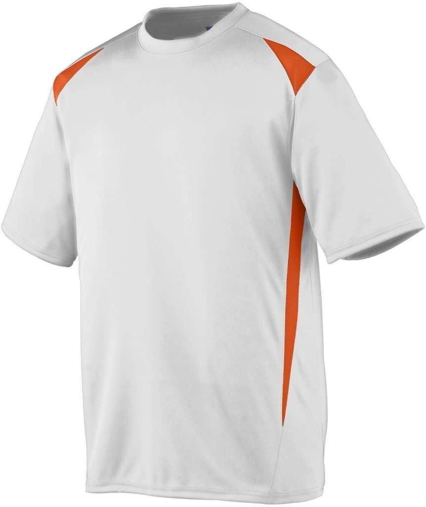 Augusta Sportswearメンズプレミアクルー B00E1YT0BQ Small ホワイト/オレンジ ホワイト/オレンジ Small
