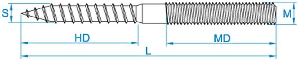 100 X Stockschrauben ohne Sechskant M10x50 TX-25 Eisen glanzverzinkt
