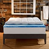 Sleep Innovations 4-Inch Dual Layer Mattress Topper - Gel Memory Foam and Plush Fiber. 10-year limited warranty. Full Size