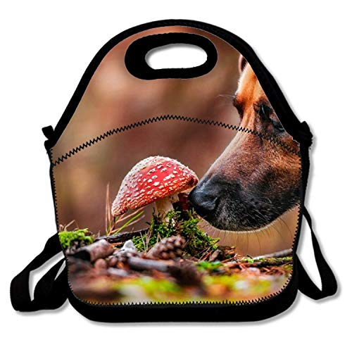 (LONSANT Lunch Tote, Animal Dog Muzzle Mushroom Funky Lunch Boxes Lunch Bags Waterproof Picnic Lunch Bag Mom Bag)