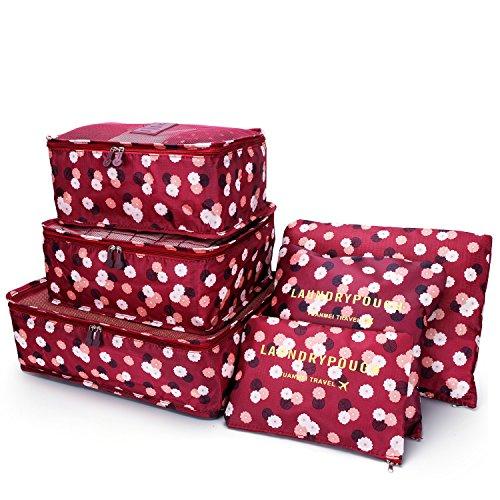Argus Le 6pc Set Packing Cubes, Travel Luggage