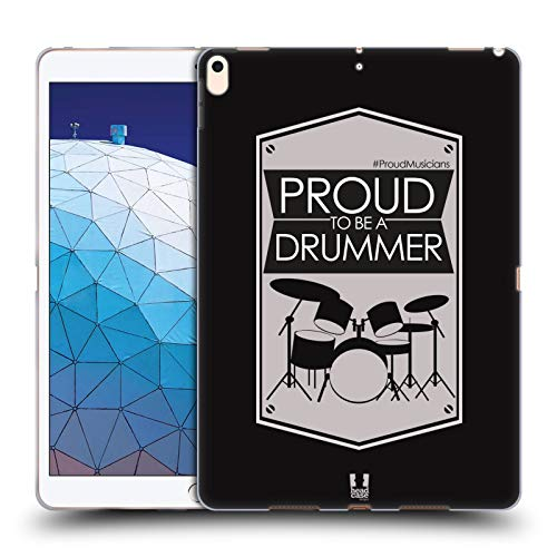 Head Case Designs Drummer Proud Musicians Soft Gel Case Compatible for iPad Air (2019)