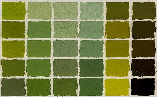 Terry Ludwig Pastels- Set of 30 Warm Greens