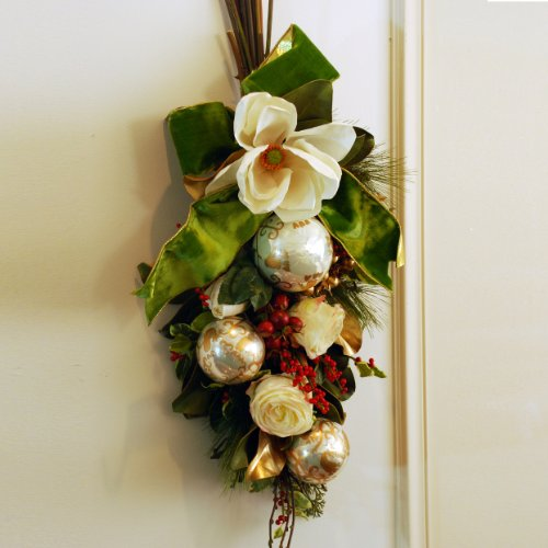 Holiday Classic Teardrop Swag or Centerpiece 35'' Long by Jane Seymour Botanicals