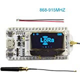Assembled 0.96 OLED Display ESP32 ESP-32S WIFI Bluetooth Lora Module Development Board Antenna Transceiver SX1276 915MHZ 868MHZ IOT for Arduino Smart Home DIYmall