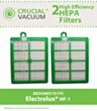 2 Eureka HF1 / HF-1 & Electrolux S HEPA Filters Designed To Fit Electrolux Eureka Sanitaire H12 HF1 (HF-1) Upright/Canister Filter, Compare To Part # H13 SP012 H12 60286A EL020 EL012B EF26 VF15, Designed & Engineered by Crucial Vacuum