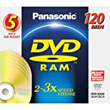 Panasonic LM-AD240LU5 9.4GB DVR Double Sided Disc 240 minutes, 5 Pack