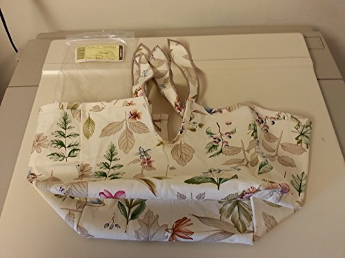 Longaberger Spring Basket Botanical Fields Fabric Over the Edge Style New In Bag