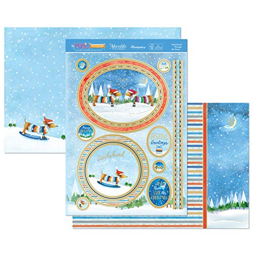 Hunkydory The Magic of Christmas- Dachshund Through The Snow 3-pc Topper Collection