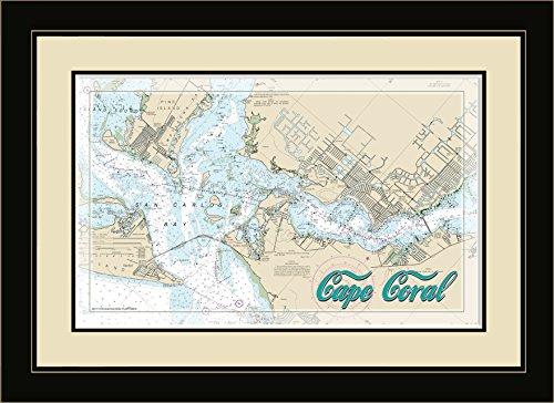 Northwest Art Mall FL-8975 FGDM Cape Coral Florida Framed Wall Art, 16