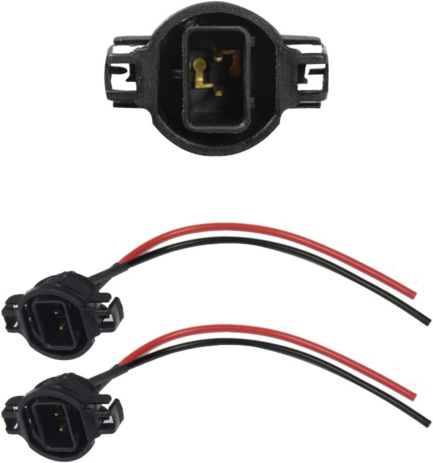 5202 to 9005 9006 Pigtail Sockets YUNPICAR 5202 H16 to 9006 9005 Pigtail Sockets Wires Connector Adapter for Headlights Fog Lights