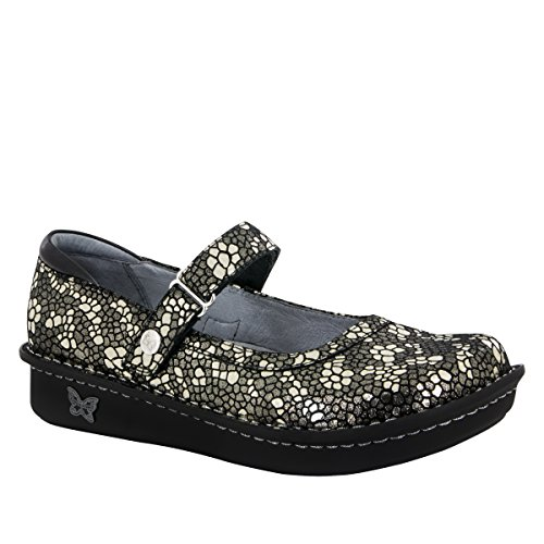 Alegria Womens Belle Mary Jane Pewter Mosaic Size 40 EU (10 M US Women)