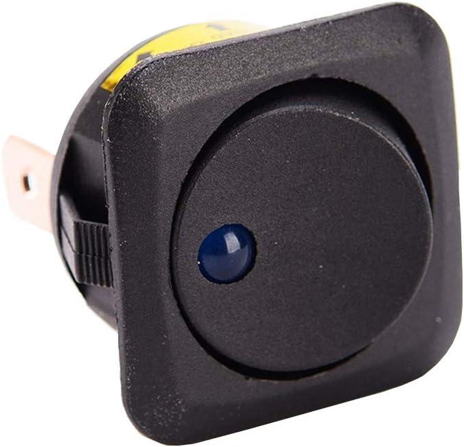 Mintice trade; 10 X interruptor cami/ón Veh/ículo Barco 25mm ronda de palanca basculante luz LED azul encendido-apagado de control SPST 12V 25A