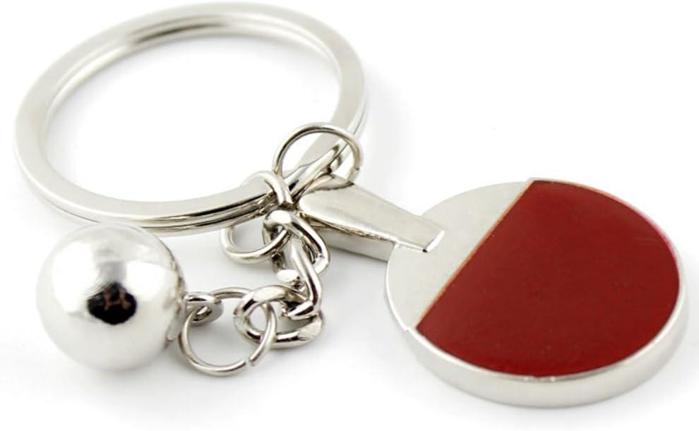 Gespout Porte-cl/és Raquette de Tennis de Table Alliage Sac Porte Cle pour Voiture T/él/éphone Pochette Accessoires de F/ête D/écoration Maison Pendentif Accessoires