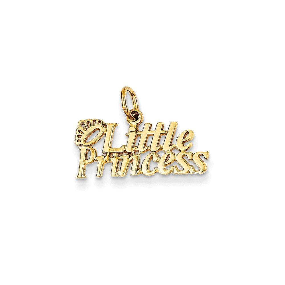 14k Little Princess Charm