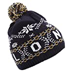 London Childrens/Kids Big Boys Fairisle Pattern Winter Bobble Hat
