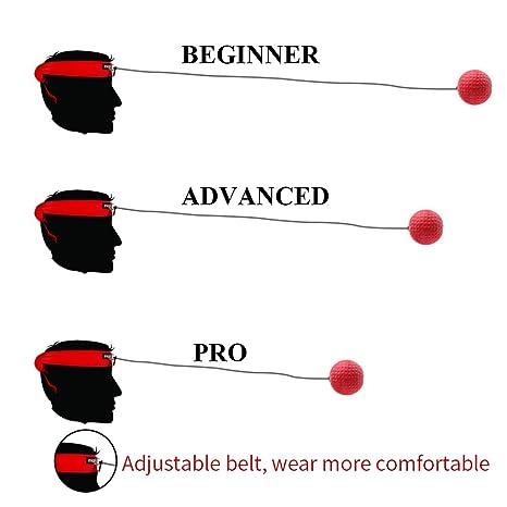 Boxeo Reflex bola Ideal para formación a mejorar las reacciones y ...