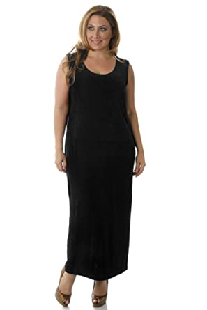 1dd57b3b35 Vikki Vi Women's Plus Size Long Shell Dress at Amazon Women's ...