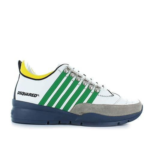 Zapatos de Hombre Zapatilla 251 Verde Azul Dsquared2 Otoño Invierno 2019: Amazon.es: Zapatos y complementos